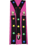 "Unisex Clip-on Braces Elastic New ""Rainbow Star"" Suspender Y-Back Suspender - $6.92"