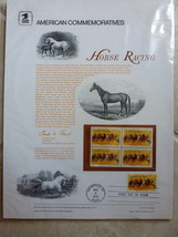 STAMPS COLLECTIBLE 1974 Horse Racing Commemorative Panel #30 100th Runni... - $12.99