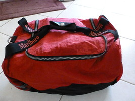"Marlboro Unlimited Duffel Duffle Gym Carry On Bag Red Black 18-20"" GUC (C) - $35.09"