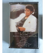 CASSETTE Michael Jackson THRILLER 9 Songs 1982 ... - $11.69