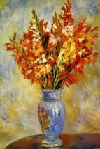 GLADIOLI VASE OF FLOWERS FRENCH 1884 BY PIERRE ... - $9.41 - $68.92