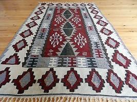 """Vintage Turkish Kilim Rug Kayseri Kilim Vegetable Dyes Wool Kelims 3'8"""" ... - $242.55"""