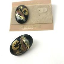 Vtg Earrings Plastic Hand Crafted NOS Mod Funky Boho Southwest - $8.90
