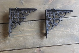 Vintage Shelf Brackets Religious Cross Cast Iron - $49.50
