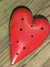 OR316 - Red Heart Metal Christmas Ornament  - $1.95