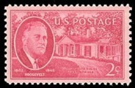 1945 2c Franklin D. Roosevelt, Warm Springs, Georgia Scott 931 Mint F/VF NH - $0.99