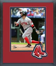 Dustin Pedroia 2016 Boston Red Sox - 11 x 14 Team Logo/Matted/Framed Photo - $43.55