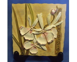 Flowered slate wall plaque thumb155 crop