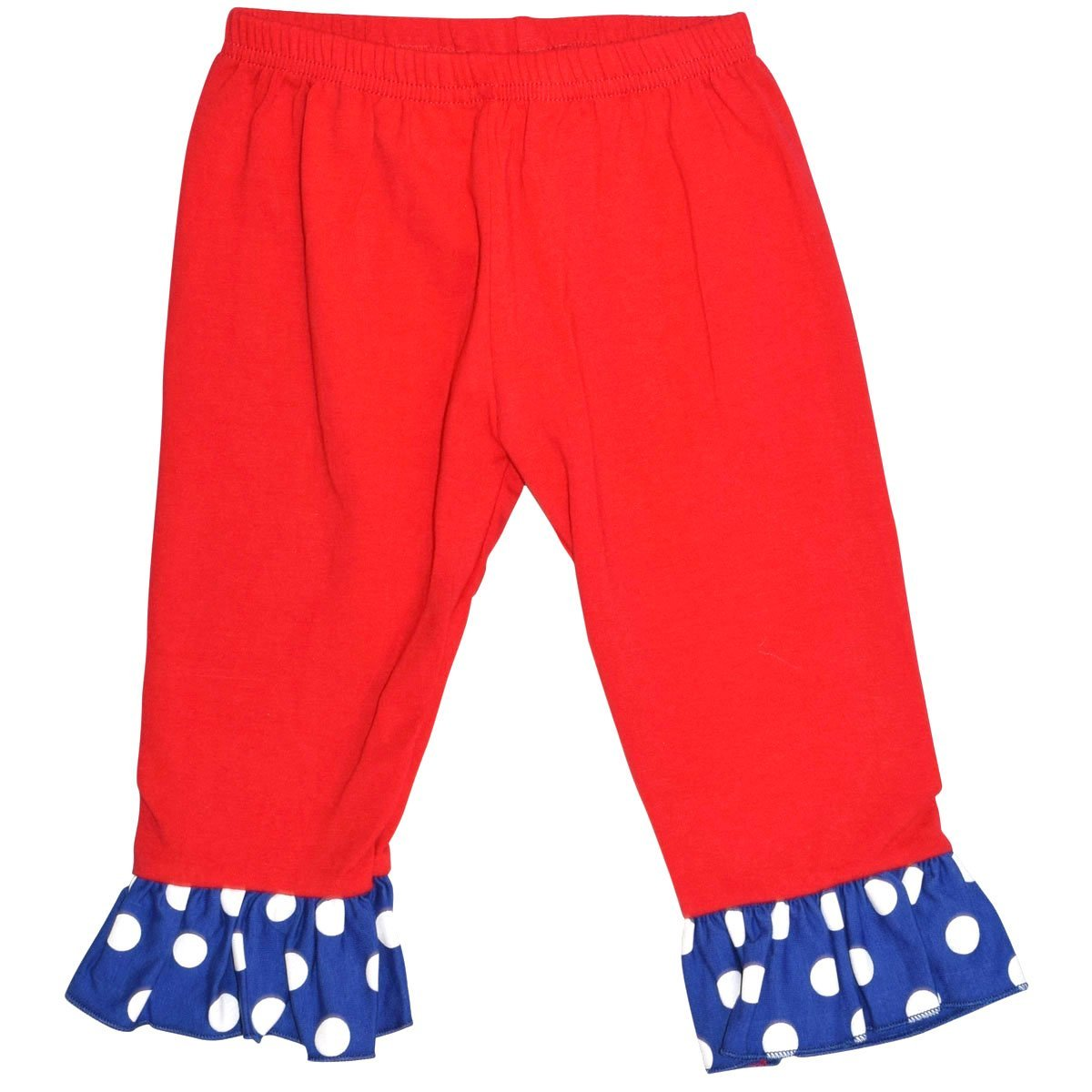 Unique Baby Girls Patriotic Baseball 2-Piece Legging Set (5T)