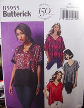 Pattern 5955 Loose fitting Tops Sizes 16-16 - $1.99