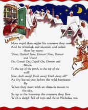 WHITE WINTER CHRISTMAS REINDEER SANTA CLAUS SAINT NICHOLAS VINTAGE POSTE... - $9.41+