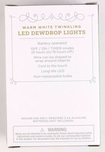 NEW Battery Operated Dewdrop Fairy Lights TWINKLING White 6hr/18hr TIMER image 2