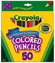 Crayola 50ct Long Colored Pencils 68-4050 Pls Note the box is slightly d... - $8.90