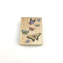 Butterfly Flutter Group Flying All Night Media Rubber Stamps 344E Made i... - $6.79