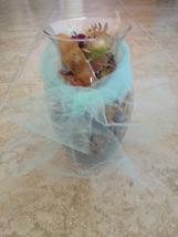 "8"" decorative wonderfully scented potpourri in glass vase 8"" - $24.99"