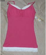 Energie Size Small Rosy Magenta Cotton Spandex Camisole NWT - $9.99