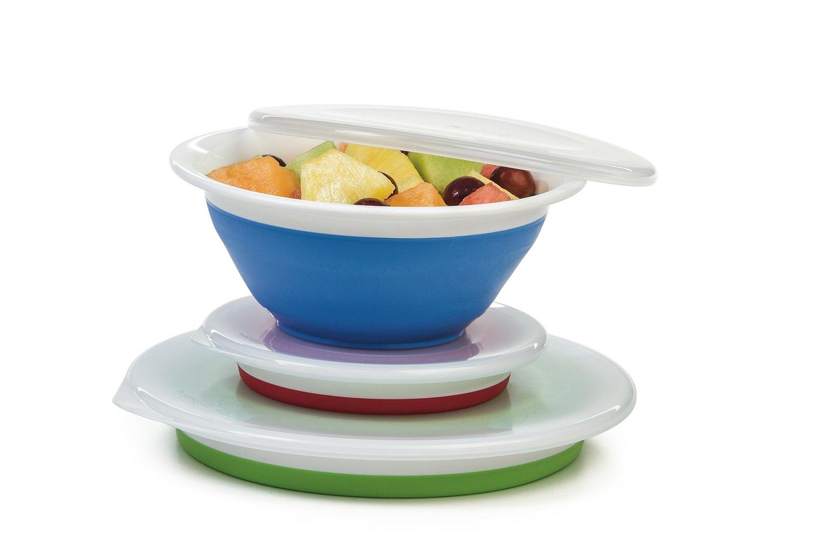 Progressive Prepworks Thinstore Collapsible Prep/Storage Bowls with Lids - Set o