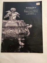 Sotheby's Auction Catalog / Important Silver / June 1992 - $19.80