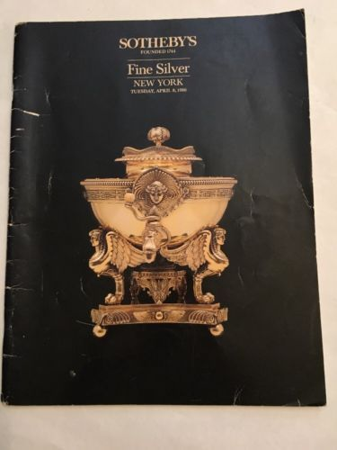 Sotheby's Auction Catalog / Fine Silver / April 1986