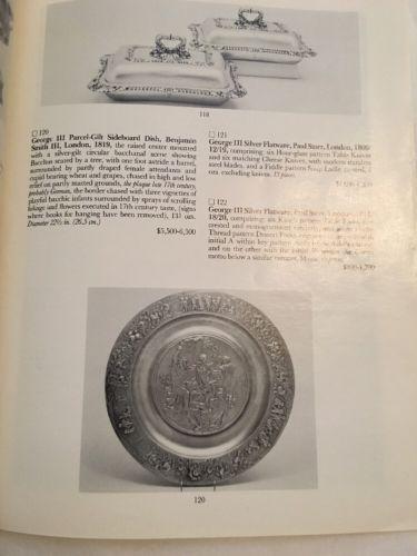 Sotheby's Auction Catalog / Fine Silver / April 1986