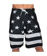 USA AMERICAN BLACK FLAG PATRIOTIC BOARD SHORTS FREEDOM ARMY AMERICA SWIM TRUNKS - $25.00