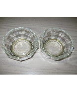 Silver Plate Pedestal Panel Glass Candy Nut Dish Glass Stamp Italy Qty 2 - $7.95