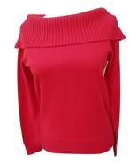 EUC-JONES NEW YORK SIGNATURE True Red 100% Cashmere Shawl Collar Sweater... - $29.69