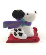 Hallmark Keepsake Grandson Christmas Ornament Dog with Sled Dated 1996 - $9.99