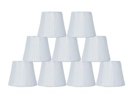 "Urbanest Box Pleated Mini Chandelier Lamp Shade, Off White, 3x5x4.5"", Softback,  image 2"