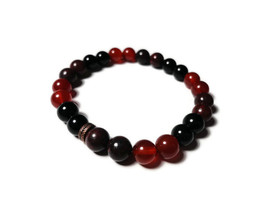 bloodstone stretch bracelet red & black size SM - $14.00