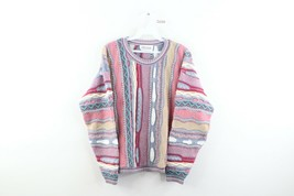 Vintage 90s Streetwear Womens XL Ed Bassmaster Coogi Style Multicolor Sw... - $98.95