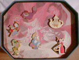 Disney Alice in Wonderland 45th Anniversary Commemorative Tin set of 6 P... - $120.94