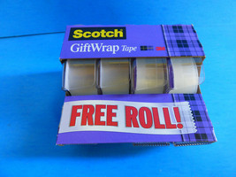 Scotch Giftwrap Tape 3/4 Inch x 325 Inches 4 Rolls Strong and secure Dis... - $5.86