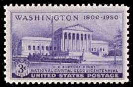 1950 3c U.S. Supreme Court Building, Washington Scott 991 Mint F/VF NH - $0.99