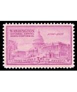 1950 3c U.S. Capitol, Washington, 150th Anniversary Scott 992 Mint F/VF NH - $18,93 MXN