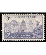 1951 3c Colorado Statehood, 75th Anniversary Scott 1001 Mint F/VF NH - €0,85 EUR