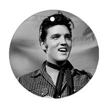Memorabilia Ornament - Elvis Presley Procelain Ornament (Round) Christmas - $3.99