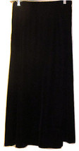 Talbots Petites Black Velvet Long Skirt Size 8 - $39.99