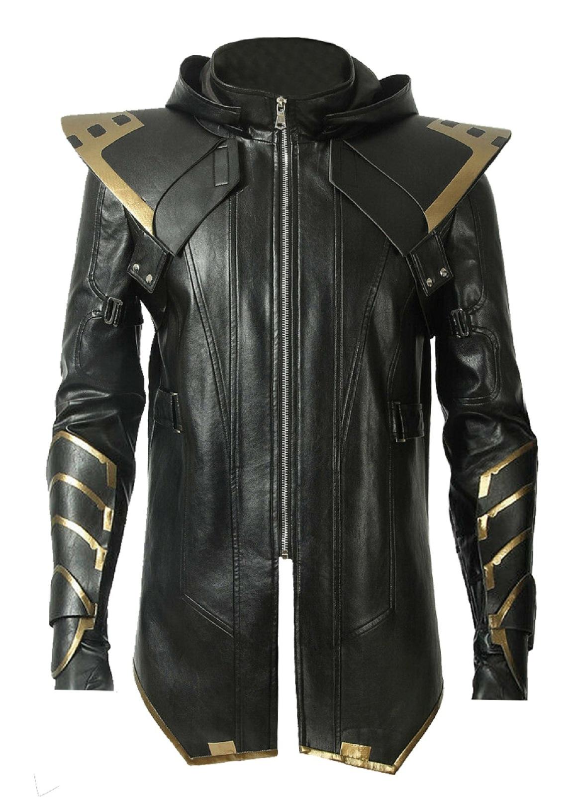 Avengers endgame ronin hawkeye black leahter jacket 1
