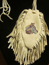 NATIVE AMERICAN MOHICAN TRIBE WOLF BEADED BUCKS... - $89.99