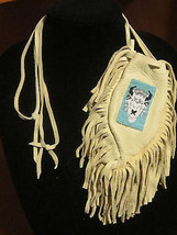 NATIVE AMERICAN MOHICAN TRIBE BUFFALO BEADED BU... - $89.99