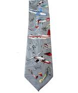 Classic Air Plane Vintage Airplane Cartoon Novelty Fancy Neck Tie - $9.99