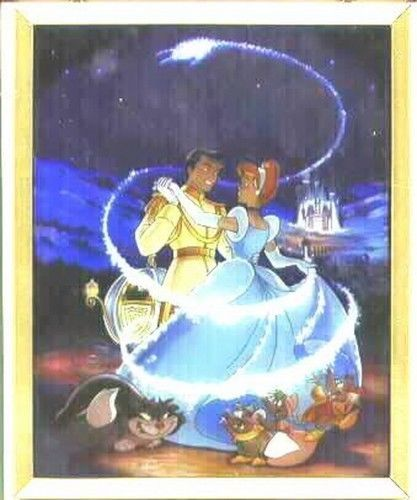 Disney Cinderella and the prince dancing Stained Glass