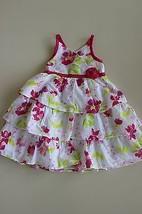 Penelope Mack Ltd. Infant Girls Swiss Dot Floral Tiered Dress, Size 24 M... - $8.30