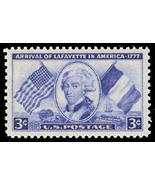1952 3c Marquis Lafayette Scott 1010 Mint F/VF NH - $0.99