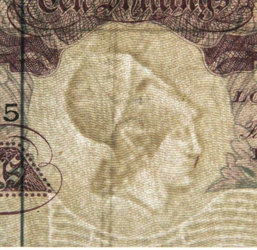 1948-49 Gran Bretaña,Banco de Inglaterra 10 Chelines Graduado por PMG VF-30 P