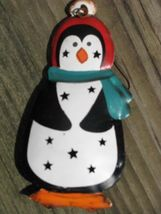 OR306- Penguin Metal Christmas Ornament - $1.95