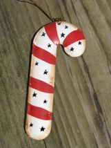 OR-307 - Candy Cane Metal Christmas Ornament  - $1.95