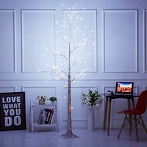 Bolylight LED Birch Tree 8ft 136L LED Christmas Decorations Lighted Tree... - £70.68 GBP