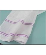 Lilac Nancy Kitchen Towel 15x24 14ct cross stit... - $7.65